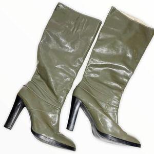 Michael Michael Kors GreenLeather Tall Heeled Boot